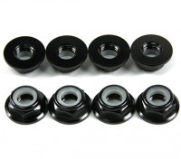 铝法兰薄型螺母Nyloc M5黑色(CCW)8片