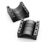 黑色阳极氧化数控半圆合金管夹(incl.screws)20毫米