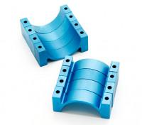 金数控阳极氧化合金半圆管夹(incl.screws)28毫米