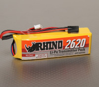 犀牛2620mAh 11.1V 3S低排放发射机Lipoly包