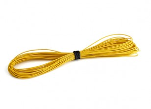 Turnigy High Quality 30AWG Silicone Wire 10m (Yellow)