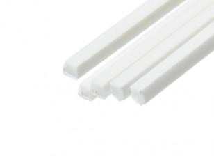 ABS Square Rod 2.0mm x 2.0mm x 500mm White (Qty 5)