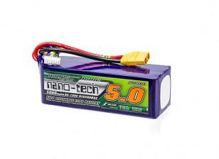 Turnigy nano-tech 5000mah 6S 65~130C Lipo Pack w/XT-90
