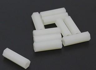 5.6毫米点¯x18毫米M3尼龙垫片螺纹(10PC)