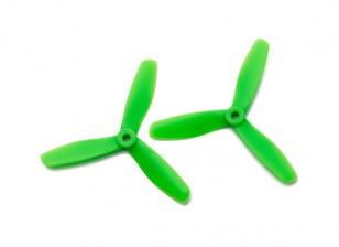 Gemfan圆头聚碳酸酯5045 3叶螺旋桨绿色(CW / CCW)(1对)