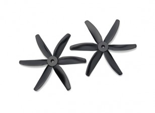 Gemfan圆头聚碳酸酯5040 6叶螺旋桨黑色(CW / CCW)(1对)