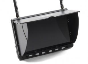 7寸高清5.8GHz的40CH多样性液晶显示器瓦特/ DVR,HDMI SkyZone HD02
