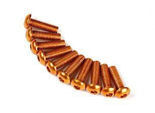7075铝。 M3圆头螺丝10毫米金