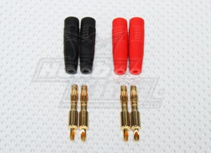 4毫米香蕉插头/充电插头(焊接式)(2对/袋)
