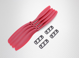 Hobbyking™螺旋桨8x4.5红(CW)(4件)