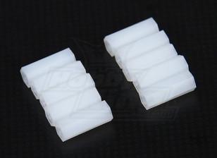 5.6毫米点¯x15毫米M3尼龙垫片螺纹(10PC)