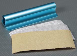 重型合金150毫米表面平坦的手桑德(蓝色)