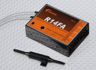 科罗纳R14FA 2.4GHz的FASST兼容Reciver