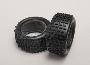 轮胎W /塑料泡沫(2件/袋) -  1/18 4WD道路上的汽车漂移