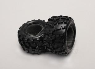 轮胎W /塑料泡沫(2件/袋) -  1/18 4WD RTR短途卡车