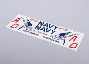 为EDF喷气美国海军严峻收割者(蓝色) -  105mmx70mm主徽章