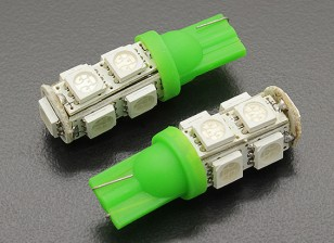 LED玉米灯12V 1.8W(9 LED) - 绿色(2个)