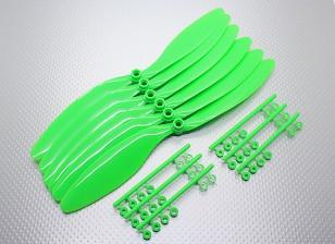 GWS EP反向旋转螺旋桨(RH-1047 254x119mm)绿色(6件/套)