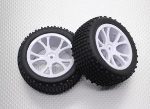 后轮胎越野车组(拆分5辐) -  1/10 Quanum防暴四轮驱动赛车越野车(2个)