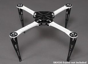 扩展着陆橇设置为SK450四轴飞行器框架