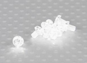 透明的聚碳酸酯螺丝M3x4mm  -  10片/袋