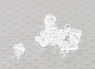 透明的聚碳酸酯螺丝M3x6mm  -  10片/袋