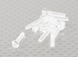 透明的聚碳酸酯螺丝M3x15mm  -  10片/袋