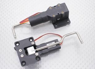 Servoless收回与金属耳轴的小模型32毫米x 25mm的安装(2个)