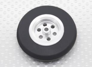 Turnigy规模喷气铝合金轮毂薄W /橡胶轮胎(45毫米)