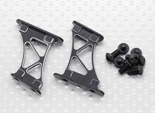 1/10铝合金CNC尾/机翼支撑架介质(黑色)