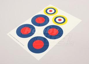 规模国家空军徽章贴纸表 - 英国(B型)
