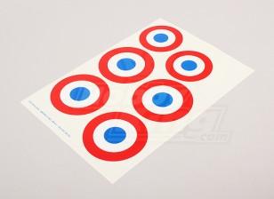 规模国家空军徽章贴纸表 - 法国