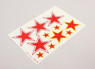 规模国家空军徽章贴纸表 - 苏联