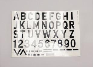 字母/符号黑银空军式(MED)样式2