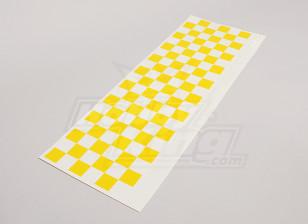 贴花表Chequer模式黄色/清除590mmx180mm