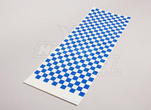 贴花薄板小Chequer模式蓝/清除590mmx180mm