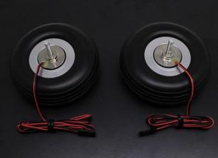 "Turnigy电磁刹车系统80毫米(3.0"")车轮(2PC)"