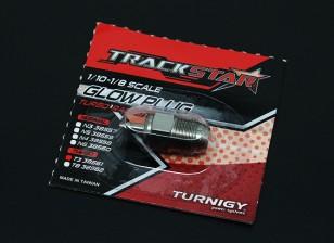 TrackStar 1月10日〜1/8级涡轮电热塞3号(HOT)