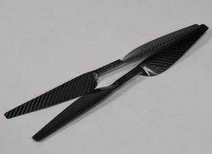 多转子碳纤维DJI S800 Hexacopter螺旋桨16x5黑色(CW / CCW)(2个)