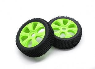 HobbyKing 1/8尺度k规格Ÿ辐条车轮/轮胎17毫米十六进制(黄色)