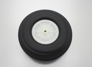 """4.5""""/114.3mm超轻PU橡胶滚轮刻度"""