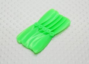 45毫米口袋四螺旋桨顺时针旋转(从后) - 青(5件)