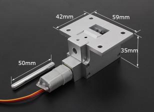 全金属Servoless 80度缩回大型模型(6公斤)W /6毫米引脚