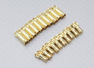 4毫米RCPROPLUS SUPRA点¯x黄金子弹连接器(10对)