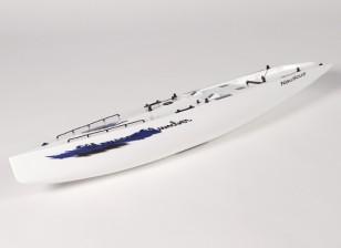玻璃钢游艇RC季风帆船 - 赫尔(包括两个伺服)