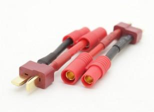 T型连接器插头对HXT3.5毫米女适配器(2个)