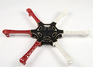 H550 V3玻璃纤维Hexcopter框架550毫米 - 集成的PCB版本