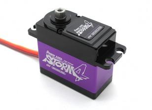 电源高清风暴-4高电压数字无刷伺服瓦特/钛合金齿轮25KG /80克/ .085sec