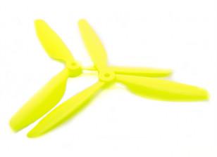 Hobbyking™3叶螺旋桨9x4.5黄色(CW / CCW)(2个)