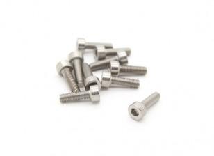 钛的M3 x 10 Sockethead六角螺丝(10片/袋)
